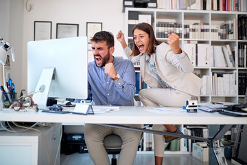 business people team - Teamwork, success concept.