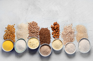 Obraz Various gluten free flour - fototapety do salonu