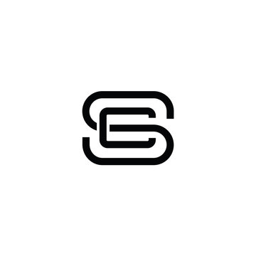 DS letters initial logo design vector
