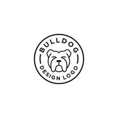 Bulldog logo vector design template in isolated white background