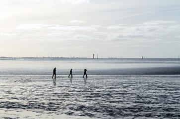 Wattlaufen an der Nordseeküste bei Bremerhaven, Entschleunigung an der Wesermündung