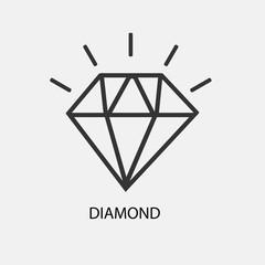 shining diamond vector icon illustration sign