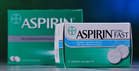 Composition with two packages of Bayer Aspirin