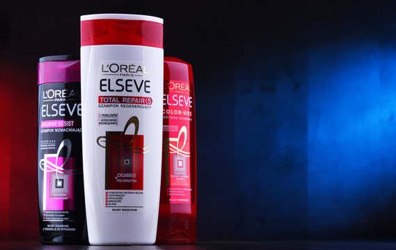 Composition with three containers of LOreal products