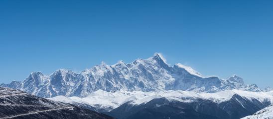 mountain peak background