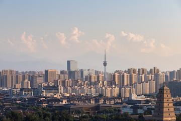 xian cityscape at dusk Fototapete