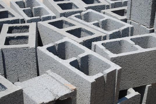 Concrete Cinder Blocks, Construction Site