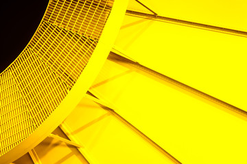Yellow radial bright yellow steel pattern