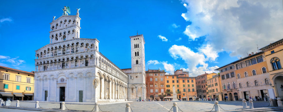 Roman catholic church San Michele in Lucca.Tuscany, Italy