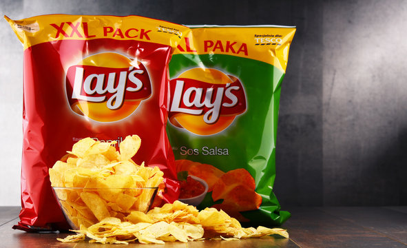 Packets of Lays potato chips
