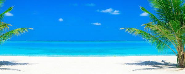 tropical beach in Maldives. sea landscape