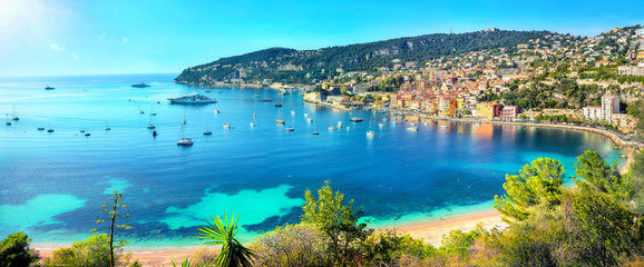 Canvas Prints Nice Resort town Villefranche sur Mer. French Riviera, Cote d'Azur, France