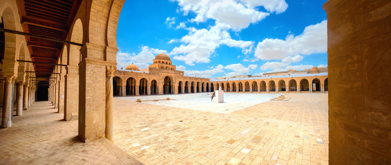 Foto auf Gartenposter Beige The Great Mosque in Kairouan. Tunisia, North Africa