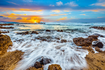 Fototapete - North Shore Oahu Sunset