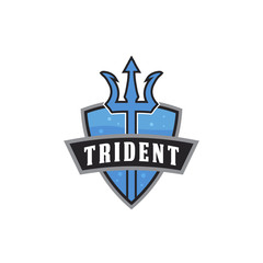 trident weapon logo icon vector template