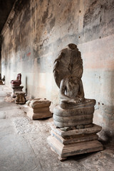 Damaged Buddha Statues at Angkor Wat