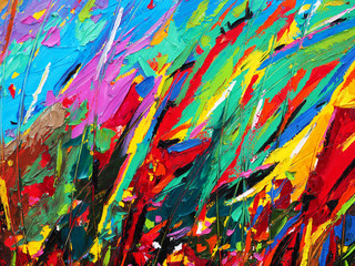 Foto op Canvas Paradijsvogel abstract, abstract background, acrylic, art, artistic, artwork, backdrop, background, banner, beautiful, bright, brush, canvas, color, colorful, colors, composition, contemporary, creative, decoration