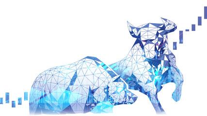 Polygonal art of Bullish vs Bearish