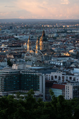 Wall Mural - Budapest city view in summer, in Hungary