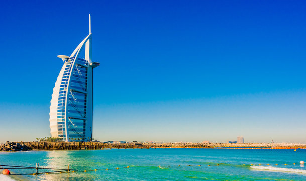 Burj Al Arab, a luxury hotel in Dubai, UAE
