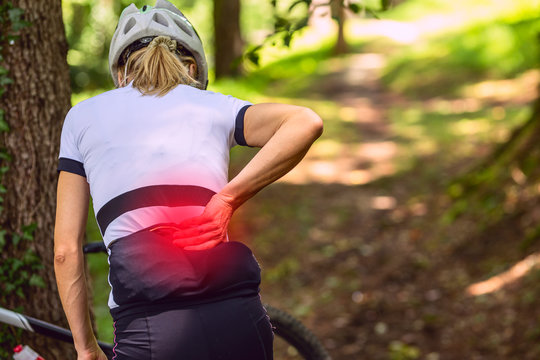 back pain.Mountain bike