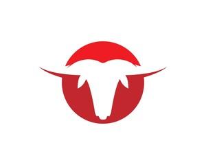 Red Bull Taurus Logo Template vector icon illustration