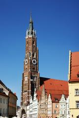 St. Martinskirche in Landshut, Bayern, höchster Backsteinkirchturm der Welt