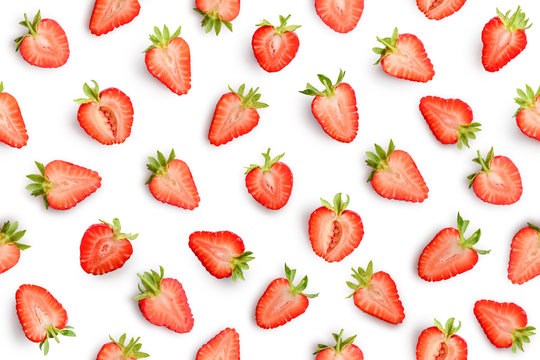 Strawberry seamless slices as pattern