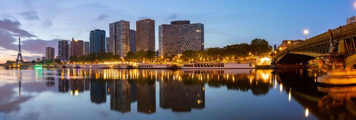 Vue Panoramique des immeubles du Quartier de Grenelle, Paris.