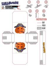 template for building a white box with a Halloween pumpkin