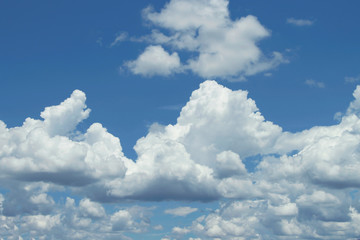 Canvas Prints Blue sky with white clouds.