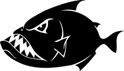 Piranha Cartoon Silhouette
