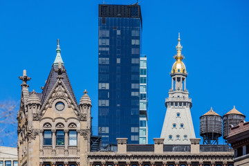 Fototapete - towers rooftop aUnion Square Manhattan Landmarks in New York City USA
