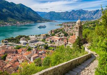 Wall Mural - Historic town of Kotor with Bay of Kotor in summer, Montenegro