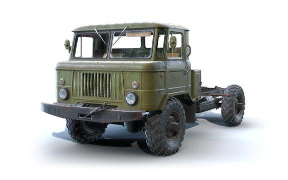 3d-render of Soviet military truck