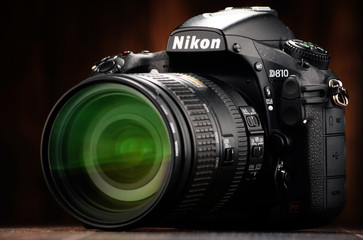 Nikon D810 camera with nikkor zoom