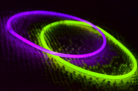 Purple and Green Glow in the Dark Rings
