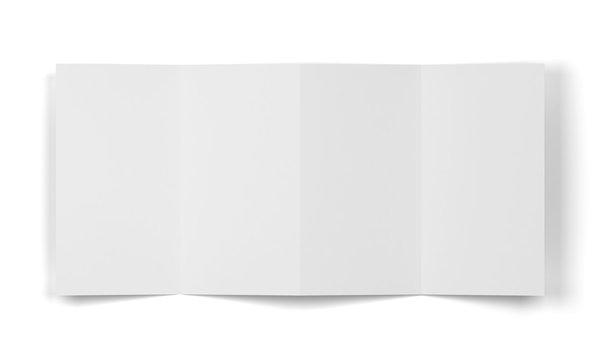 4-folded brochure mockup