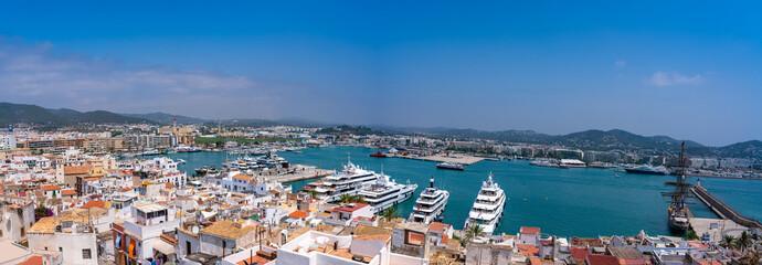 Foto op Aluminium Algerije Ibiza Eivissa skyline from Dalt Vila in Balearics