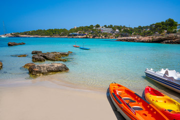 Ibiza Portinatx Arenal Petit beach in Balearics
