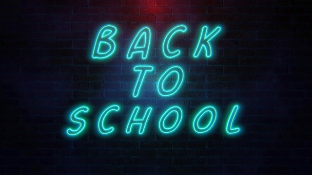 Back to school concept on coloured background.