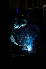 Fototapeta Spawanie - Przemysł - spawalnictwo przemysłowe obraz