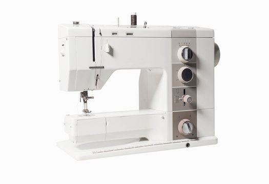 Sewing machine isolated