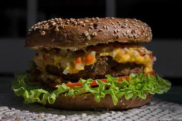 Keuken foto achterwand Bakkerij Vegan Quinoa Burger