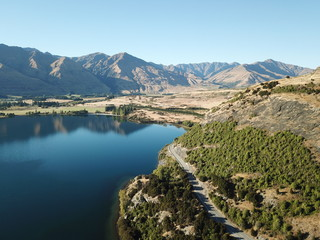 Aerial view Glendu Bay, Lake Wanaka, New Zealanad
