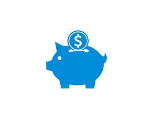 Piggy bank, money icon symbol