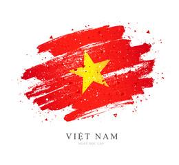 Flag of Vietnam. Vector illustration on white background.