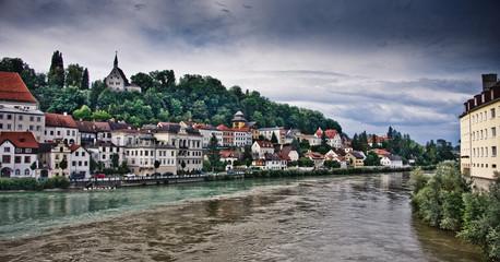 cityscape of the town of steyr. upper austria, austria