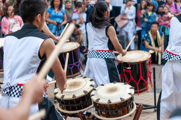 Japanese Drum during a summer festival