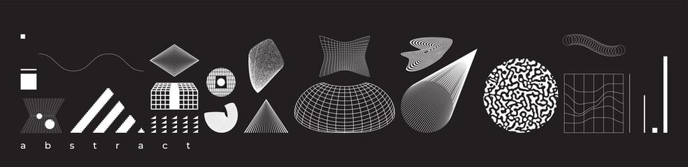 Vector Abstract Shape Geometric universal design form